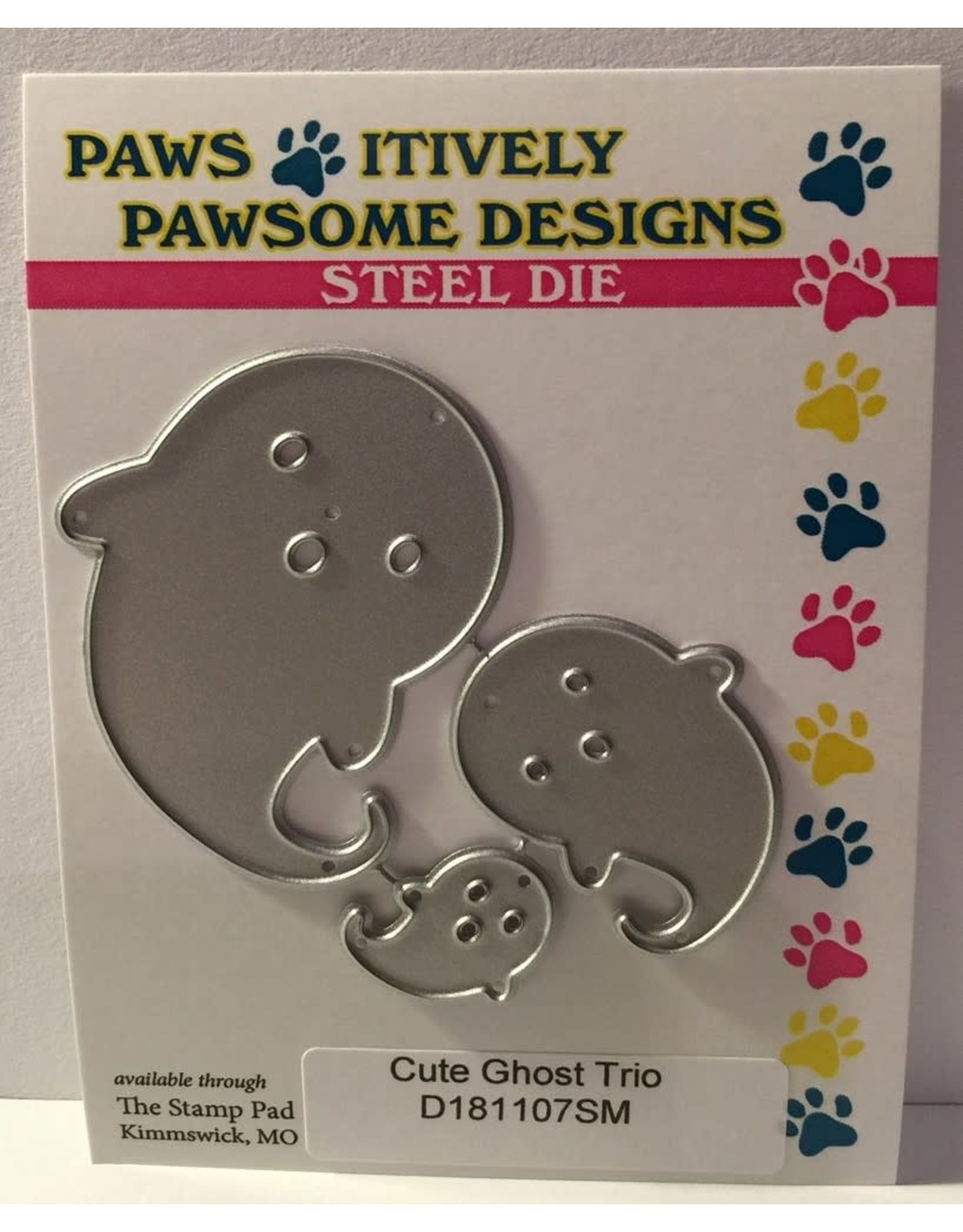 Paws-Itively Pawsome Designs Cute Ghost Trio - Die
