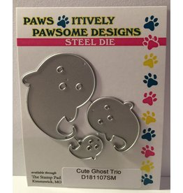 Paws-Itively Pawsome Designs Cute Ghost Trio