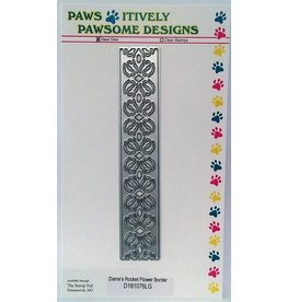 Paws-Itively Pawsome Designs Dame's Rocket Flower Border - Die