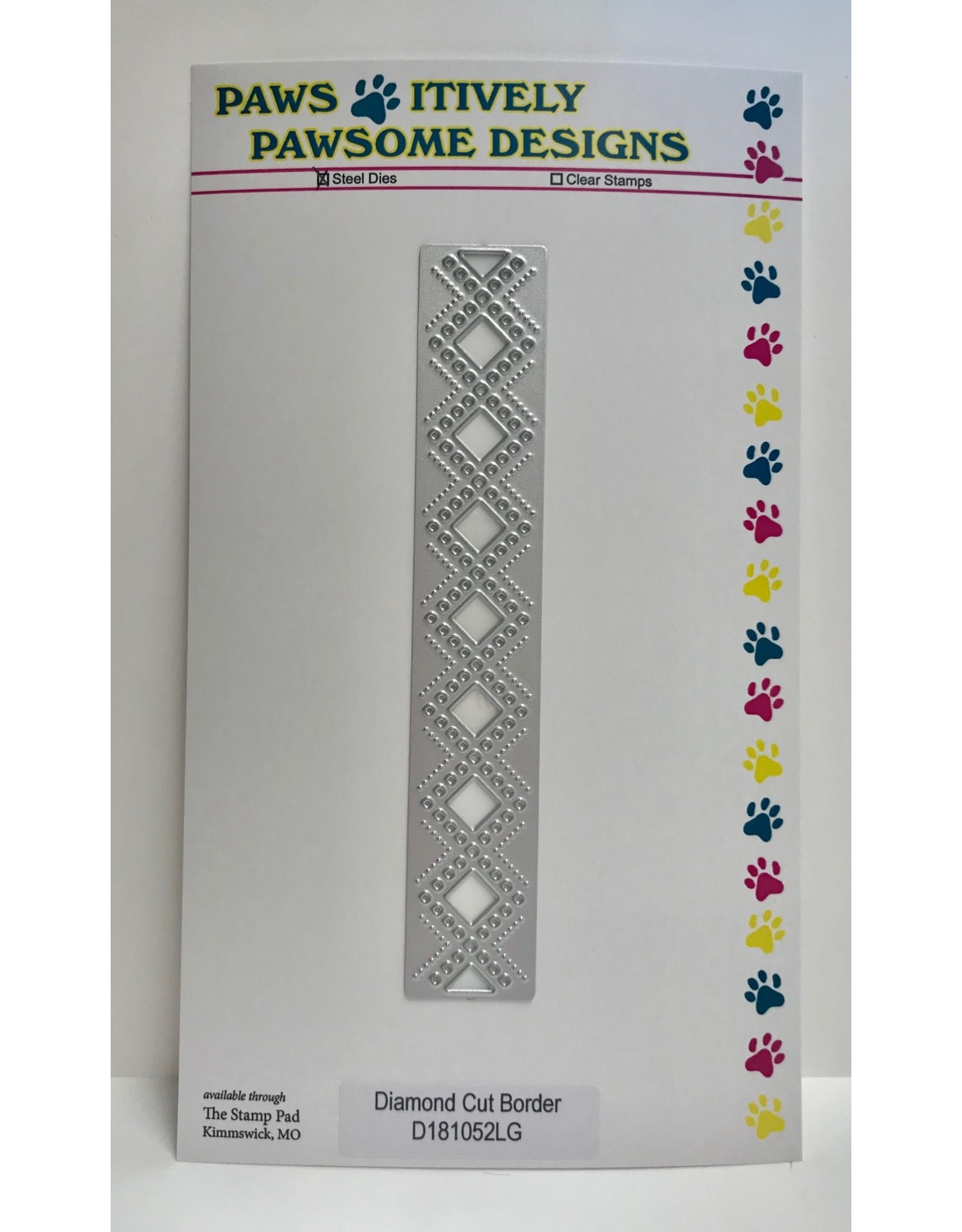 Paws-Itively Pawsome Designs Diamond Cut Border - Die