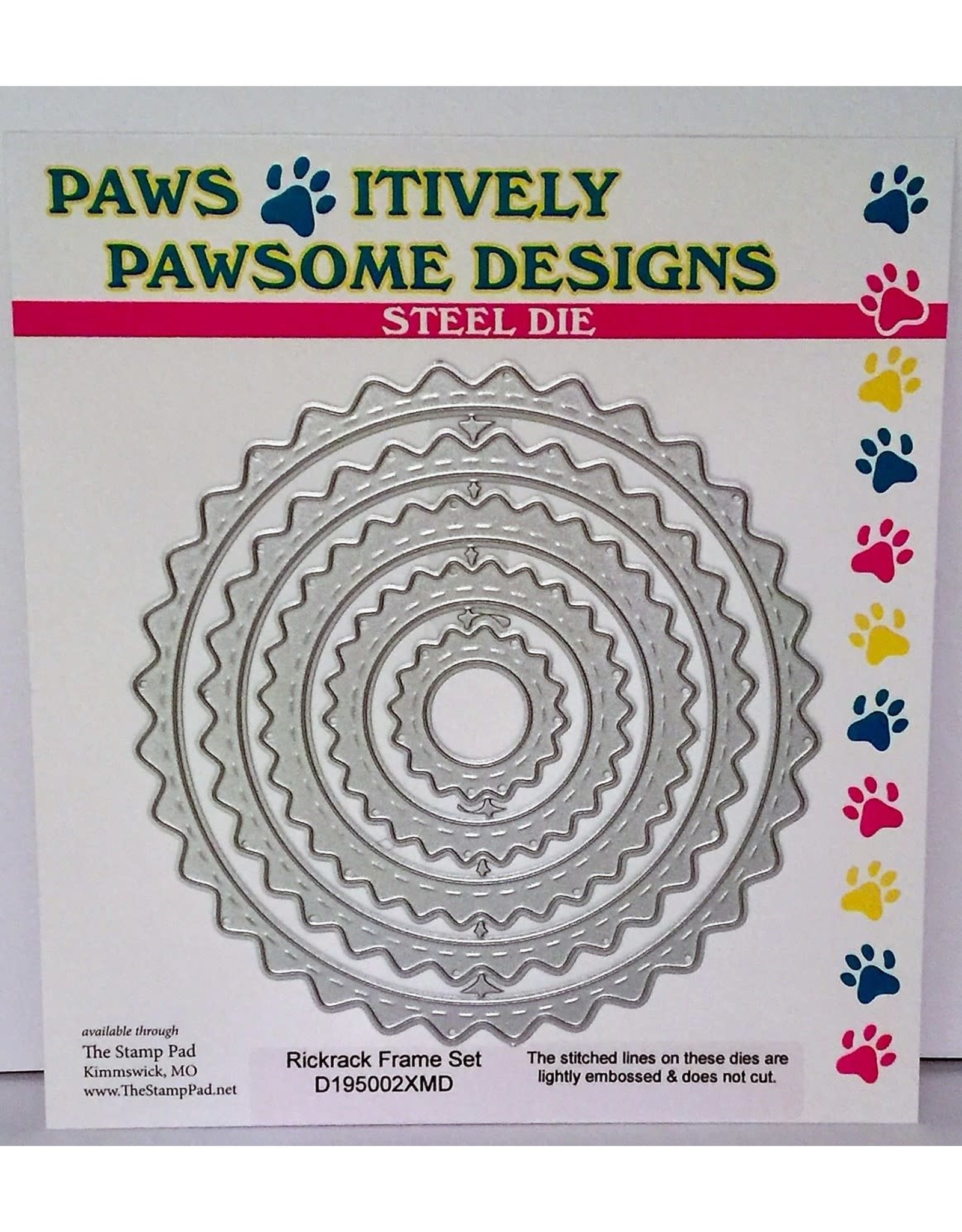 Paws-Itively Pawsome Designs Embossed Rickrack Frame Set - Die