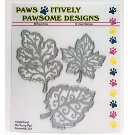 Paws-Itively Pawsome Designs Fall Embossed Leaves