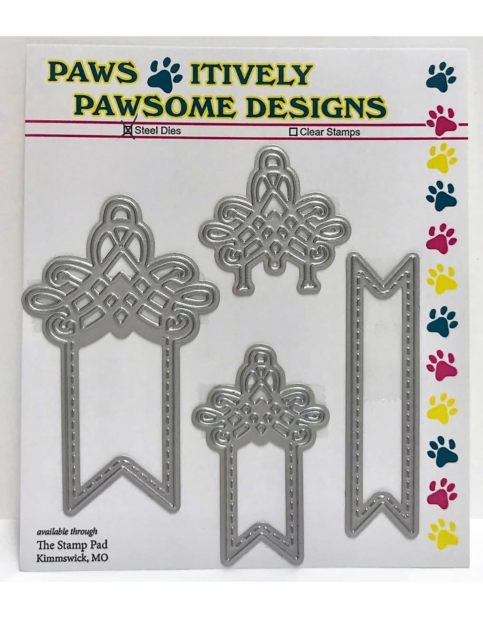 Paws-Itively Pawsome Designs Fancy Fishtail Tabs - Die