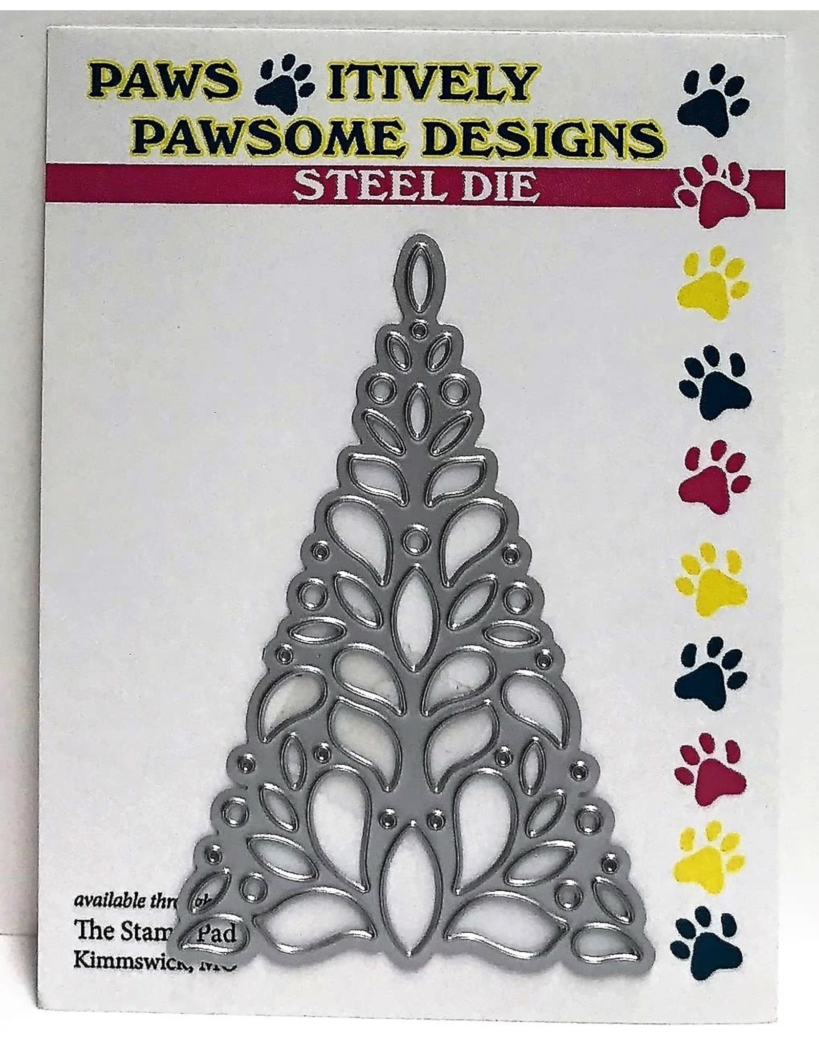 Paws-Itively Pawsome Designs Festive Tree Cutout - Die