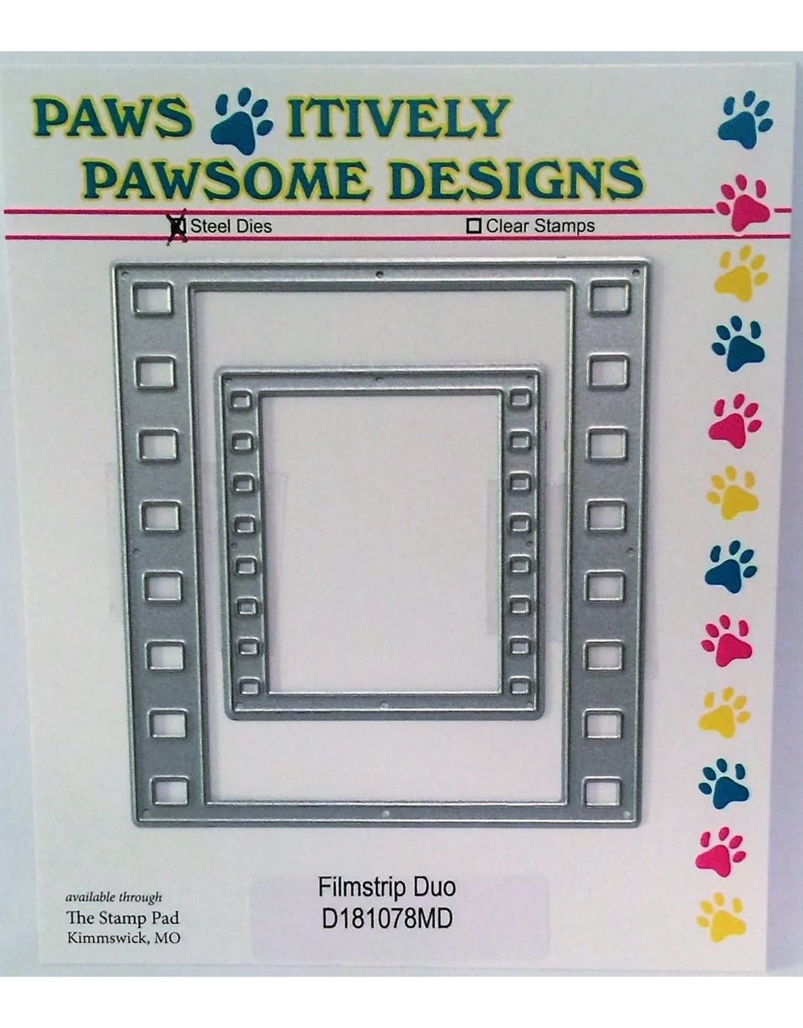 Paws-Itively Pawsome Designs Filmstrip Duo - Die