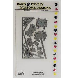 Paws-Itively Pawsome Designs Framed Web & Spiders
