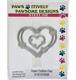Paws-Itively Pawsome Designs Heart Outline Duo