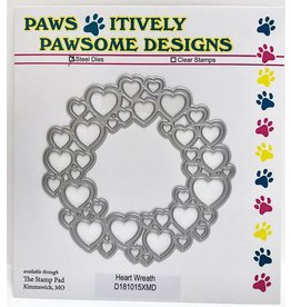 Paws-Itively Pawsome Designs Heart Wreath