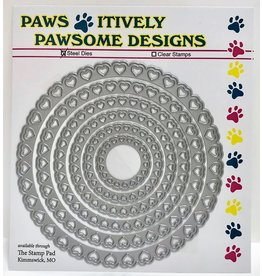 Paws-Itively Pawsome Designs Hearts Circle Set