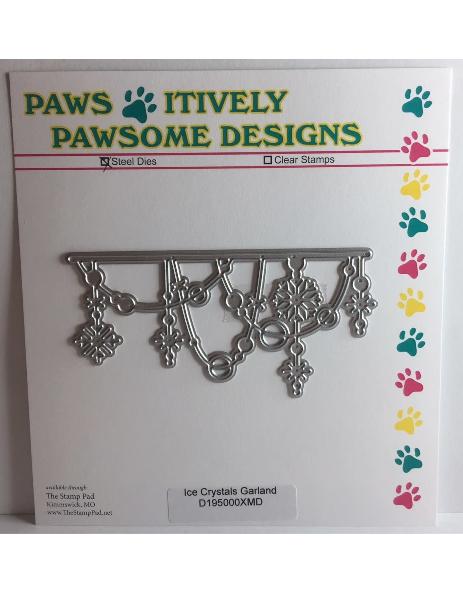 Paws-Itively Pawsome Designs Ice Crystals Garland - Die