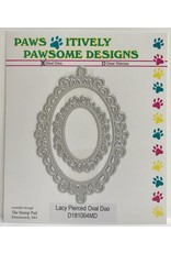 Paws-Itively Pawsome Designs Lacy Pierced Oval Duo - Die