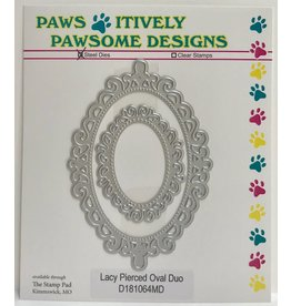 Paws-Itively Pawsome Designs Lacy Pierced Oval Duo