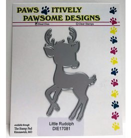 Paws-Itively Pawsome Designs Little Rudolph - Die