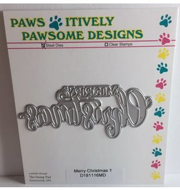Paws-Itively Pawsome Designs Merry Christmas 1 - Die