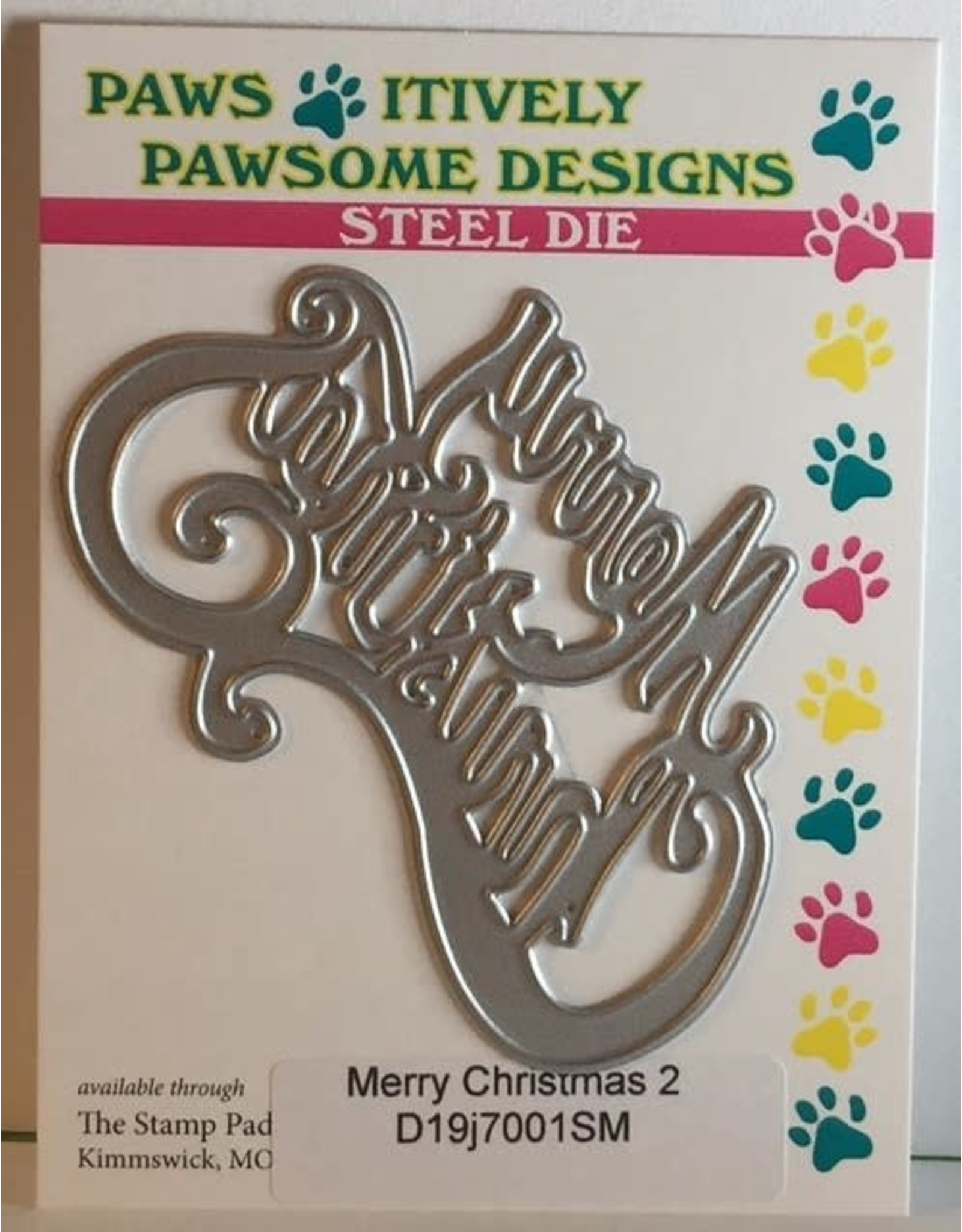 Paws-Itively Pawsome Designs Merry Christmas 2 - Die