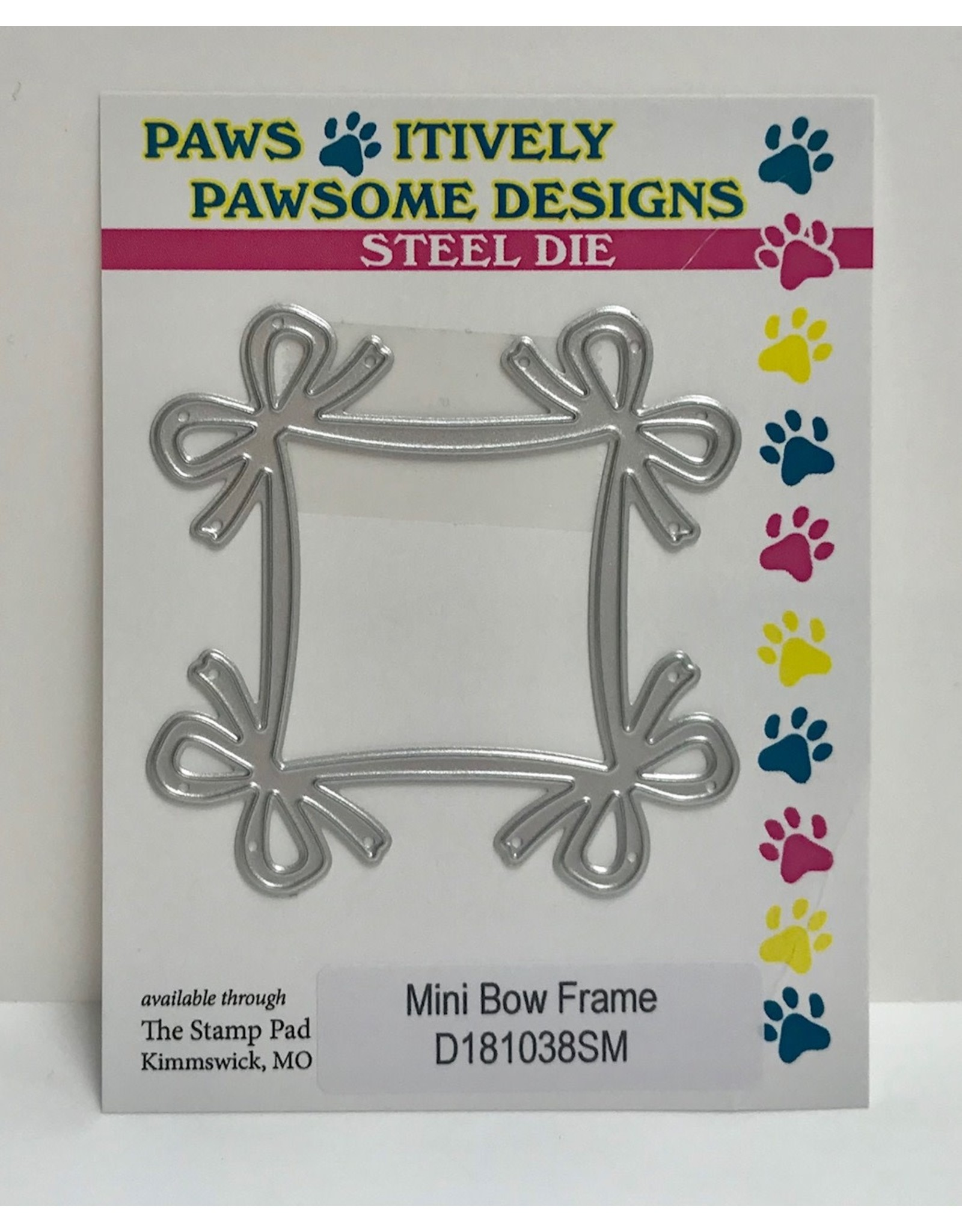 Paws-Itively Pawsome Designs Mini Bow Frame - Die