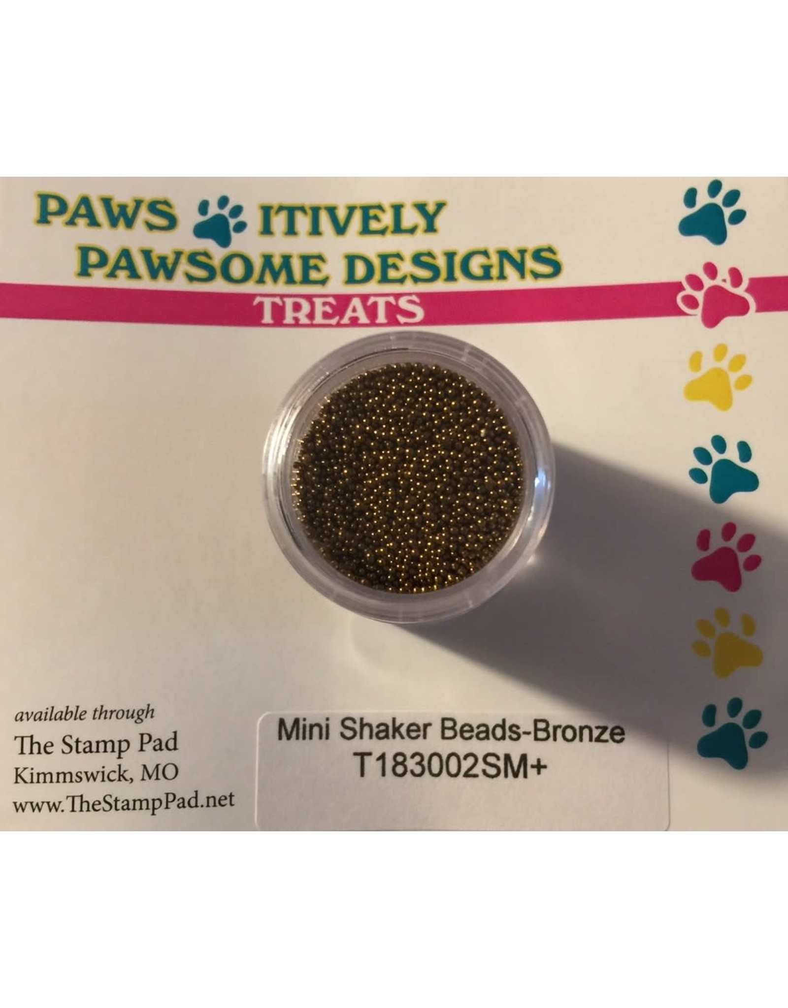 Paws-Itively Pawsome Designs Mini Shaker Beads - Bronze