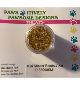 Paws-Itively Pawsome Designs Mini Shaker Beads - Gold