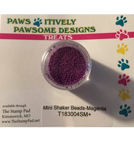 Paws-Itively Pawsome Designs Mini Shaker Beads - Magenta