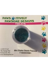 Paws-Itively Pawsome Designs Mini Shaker Beads - Peacock