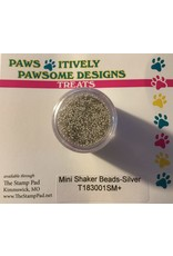 Paws-Itively Pawsome Designs Mini Shaker Beads - Silver