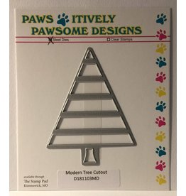 Paws-Itively Pawsome Designs Modern Tree Cutout