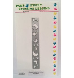 Paws-Itively Pawsome Designs Moon & Stars Cutout Border - Die