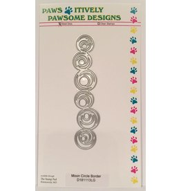 Paws-Itively Pawsome Designs Moon Circle Border