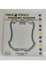 Paws-Itively Pawsome Designs Ornate Rectangle Frame - Die