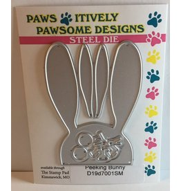Paws-Itively Pawsome Designs Peeking Bunny - Die