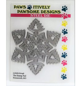Paws-Itively Pawsome Designs Pine Snowflake - Die
