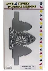 Paws-Itively Pawsome Designs Poinsettia Pine Trio - Die