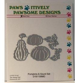 Paws-Itively Pawsome Designs Pumpkins & Gourd Set