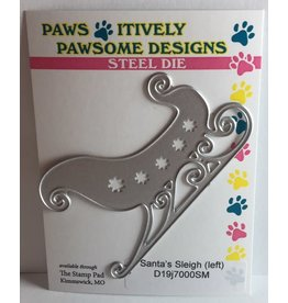 Paws-Itively Pawsome Designs Santa's Sleigh (facing left) - Die