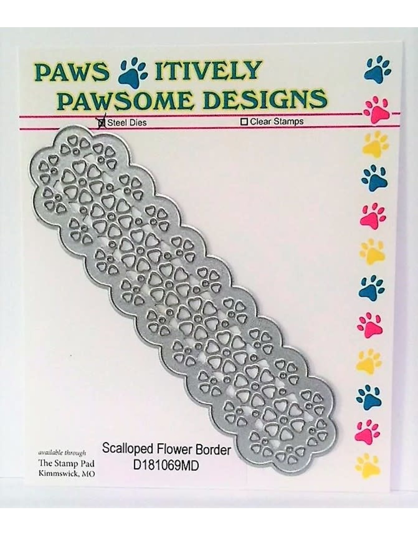 Paws-Itively Pawsome Designs Scalloped Flower Border - Die