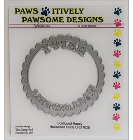 Paws-Itively Pawsome Designs Scalloped Happy Halloween Circle