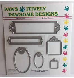 Paws-Itively Pawsome Designs Sentiment Tags & Banners - Die