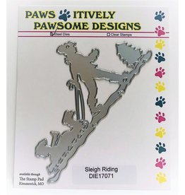 Paws-Itively Pawsome Designs Sleigh Riding - Die