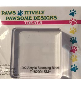 "Paws-Itively Pawsome Designs Sm. Square (2""x2"") Acrylic Stamping Block"