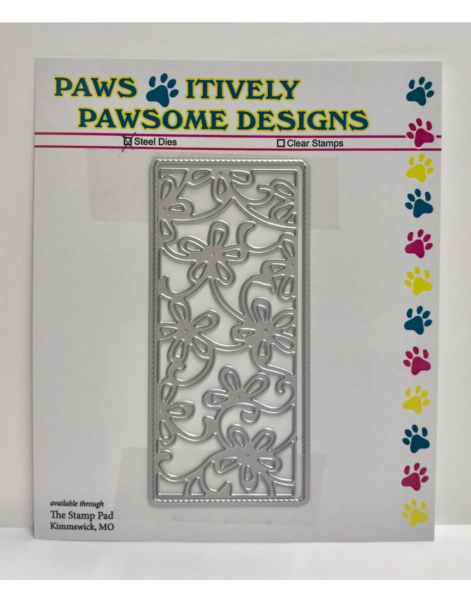 Paws-Itively Pawsome Designs Small Floral Panel - Die