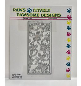 Paws-Itively Pawsome Designs Small Floral Panel