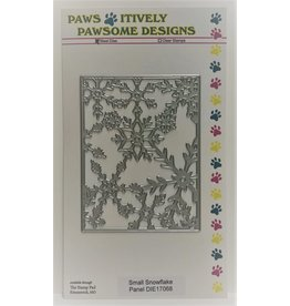 Paws-Itively Pawsome Designs Small Snowflake Panel - Die