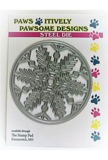 Paws-Itively Pawsome Designs Snowflake Circle - Die
