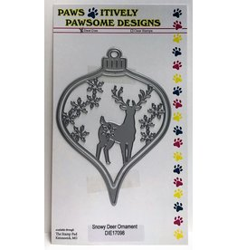 Paws-Itively Pawsome Designs Snowy Deer Ornament