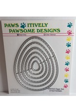 Paws-Itively Pawsome Designs Stitched Eggs Set - Die