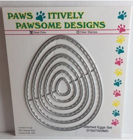 Paws-Itively Pawsome Designs Stitched Eggs Set