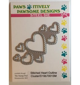 Paws-Itively Pawsome Designs Stitched Heart Outline Cluster
