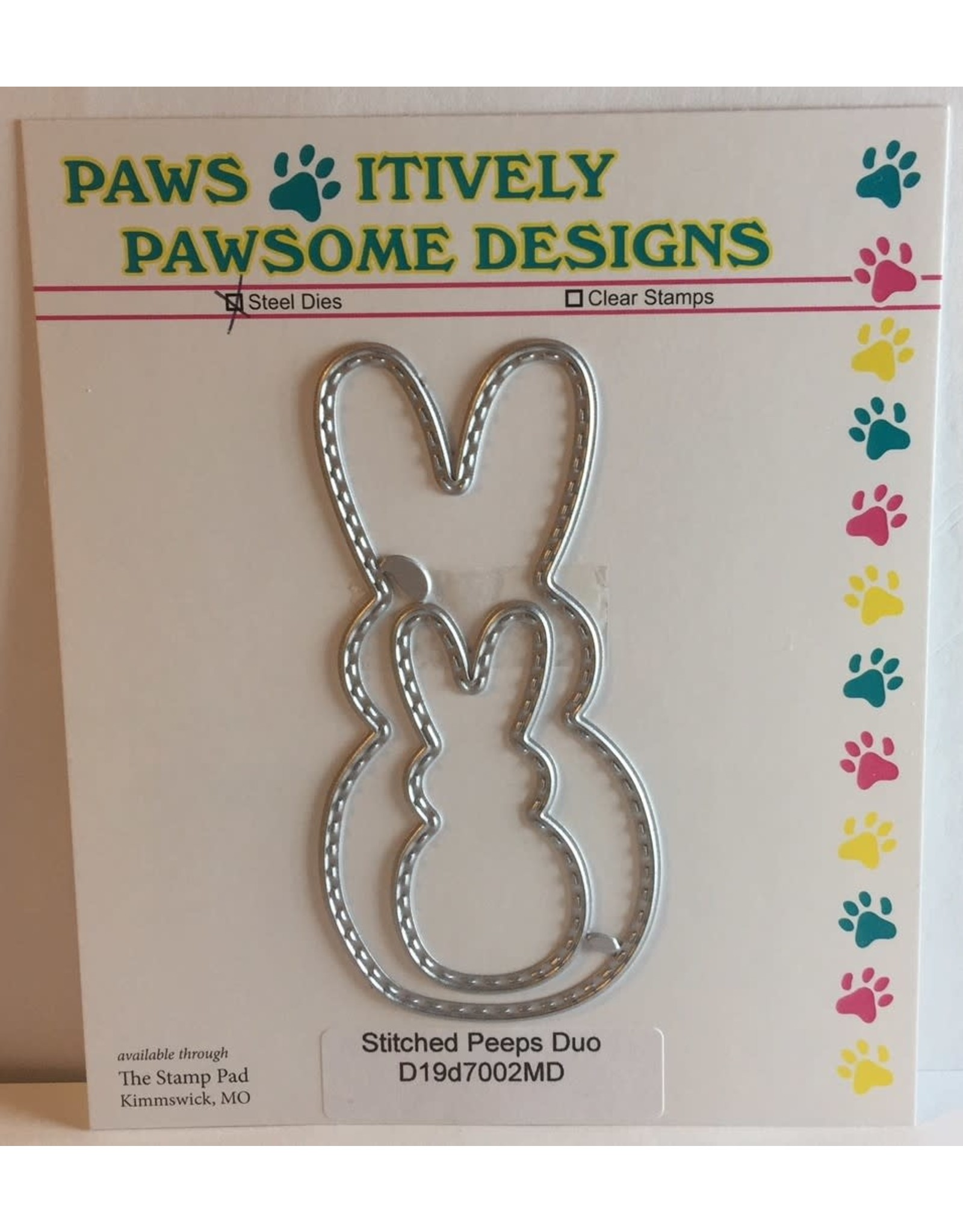 Paws-Itively Pawsome Designs Stitched Peeps Duo - Die