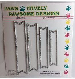 Paws-Itively Pawsome Designs Stitched Sentiment Banner Set
