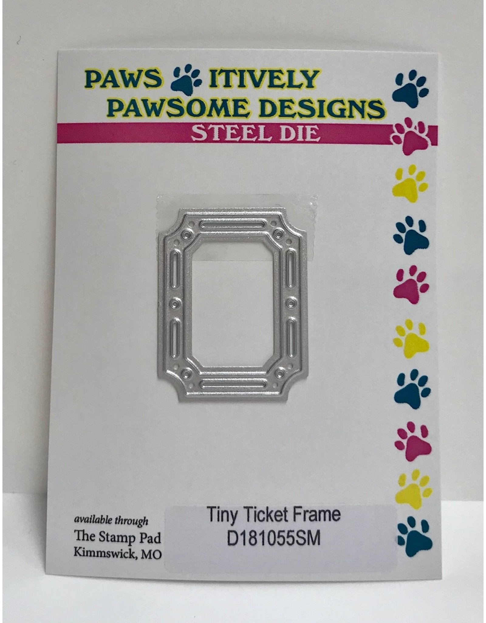 Paws-Itively Pawsome Designs Tiny Ticket Frame - Die